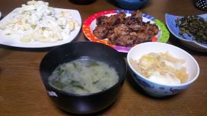 15日夜ご飯